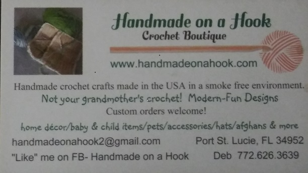 Handmade on a Hook, Crochet Boutique